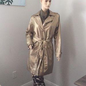 Gold rain jacket